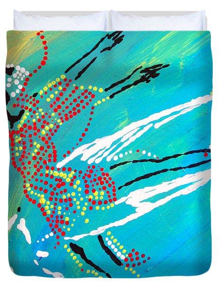 Dinka Dance - South Sudan Duvet Cover by Gloria Ssali
