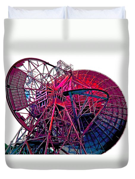 26 East Antenna Abstract 4 Duvet Cover