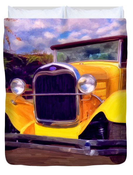 '28 Ford Pick Up Duvet Cover by Michael Pickett