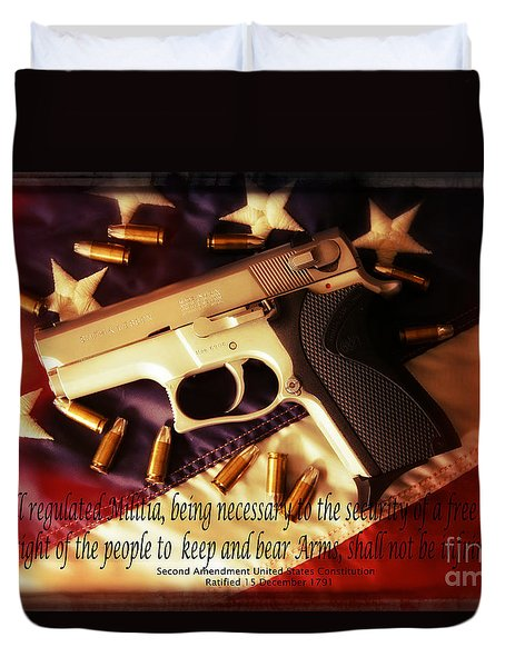 2nd Amendment Duvet Cover