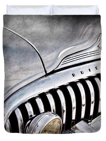 1947 Buick Eight Super Grille Emblem Duvet Cover by Jill Reger