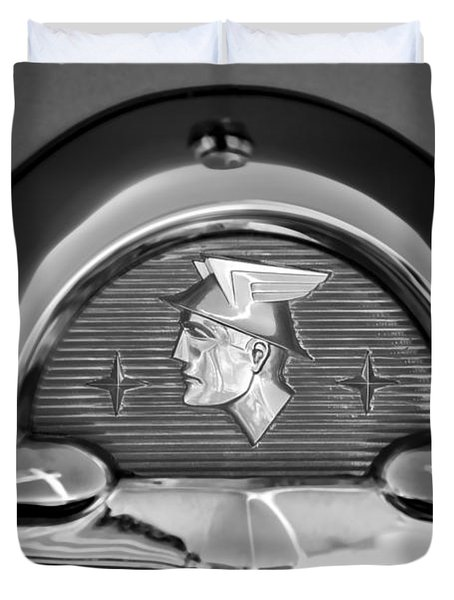 1953 Mercury Monterey Emblem Duvet Cover