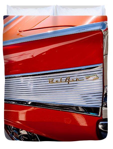 1957 Chevy Bel Air Custom Hot Rod Duvet Cover