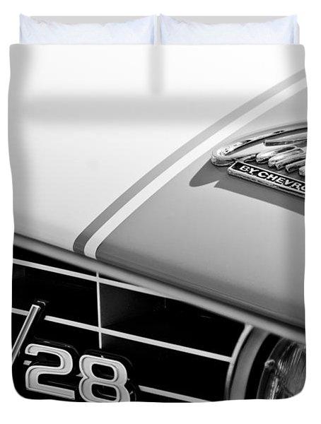 1969 Chevrolet Camaro Z-28 Emblem Duvet Cover by Jill Reger