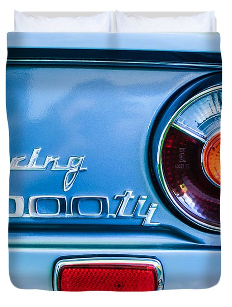 1972 Bmw 2000 Tii Touring Taillight Emblem -0182c Duvet Cover
