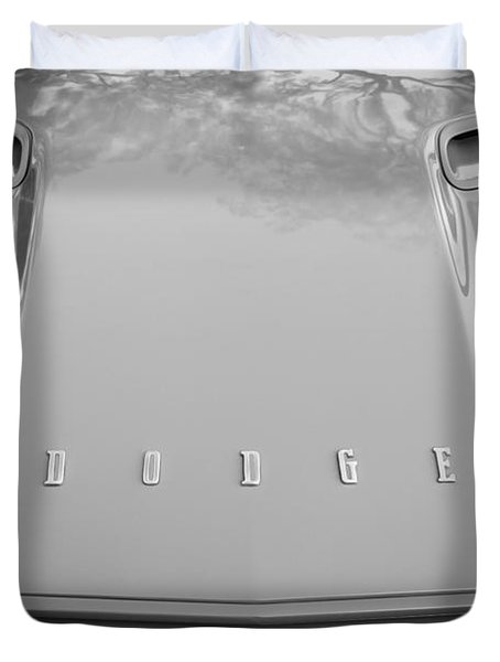 1972 Dodge 340 Challenger Painted Bw  Duvet Cover