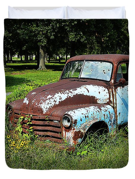 Duvet Cover featuring the photograph '48 Chevy by Paul Mashburn