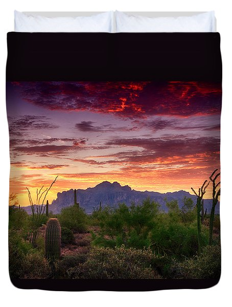 A Superstition Sunrise  Duvet Cover by Saija  Lehtonen