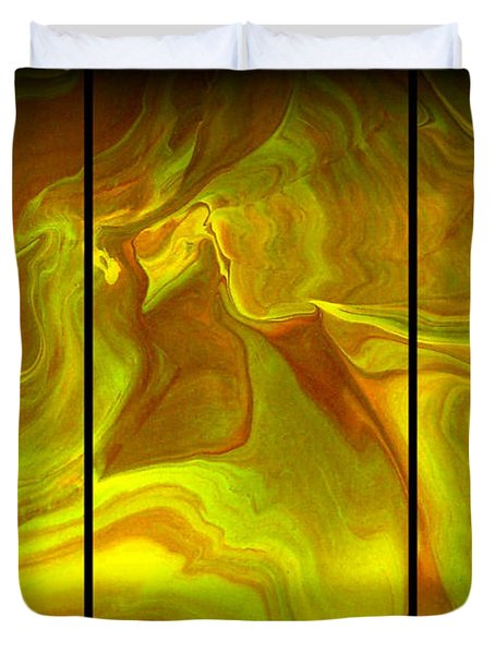 Abstract 99 Duvet Cover by J D Owen