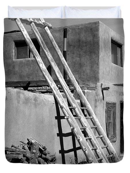 Acoma Pueblo Adobe Homes Duvet Cover by Mike McGlothlen