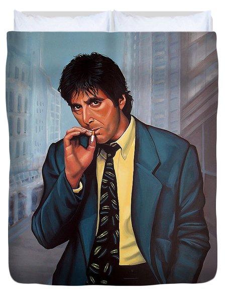 Al Pacino 2 Duvet Cover by Paul Meijering