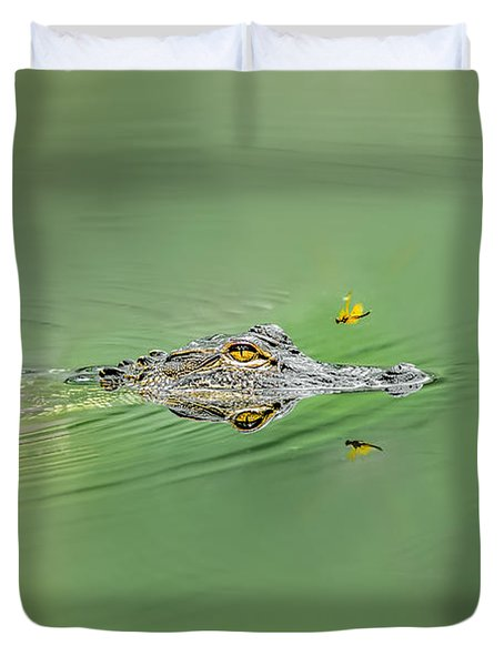 Alligator Duvet Cover by Peter Lakomy