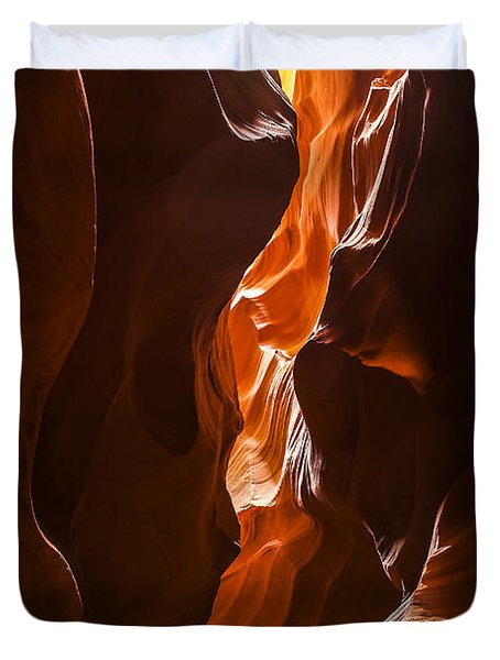 Duvet Cover featuring the photograph Antelope Slot Canyon by Andrew Soundarajan