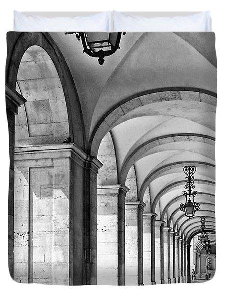 Arcades Of Lisbon Duvet Cover by Jose Elias - Sofia Pereira