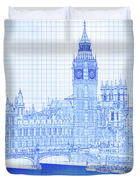 Arch Bridge Across A River, Westminster Duvet Cover