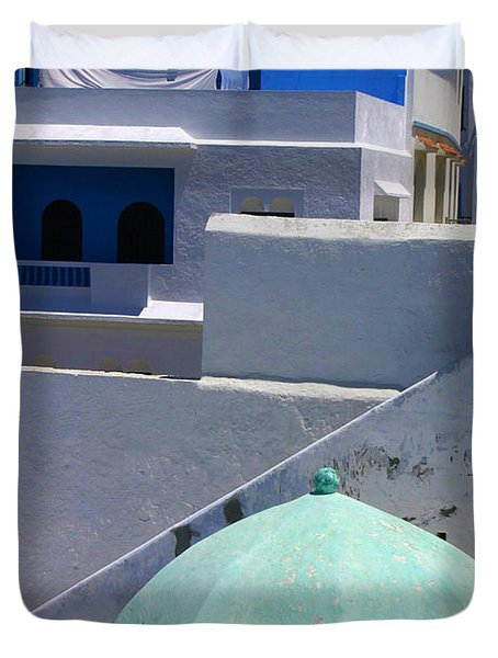 Duvet Cover featuring the photograph Asilah Meaning Authentic In Arabic Fortified Town On Northwest Tip Of Atlantic Coast Of Morocco by Ralph A  Ledergerber-Photography
