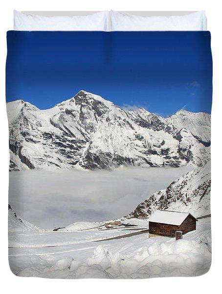 Austrian Mountains Duvet Cover
