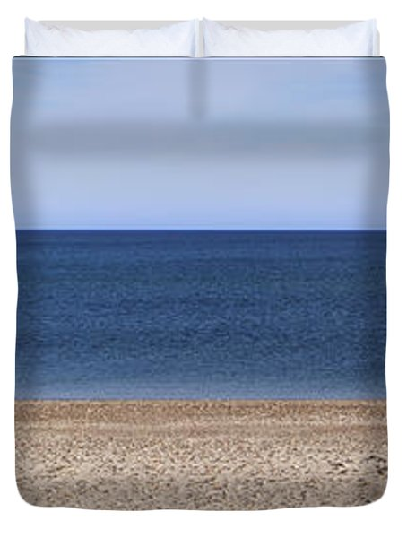 Color Bars Beach Scene Duvet Cover