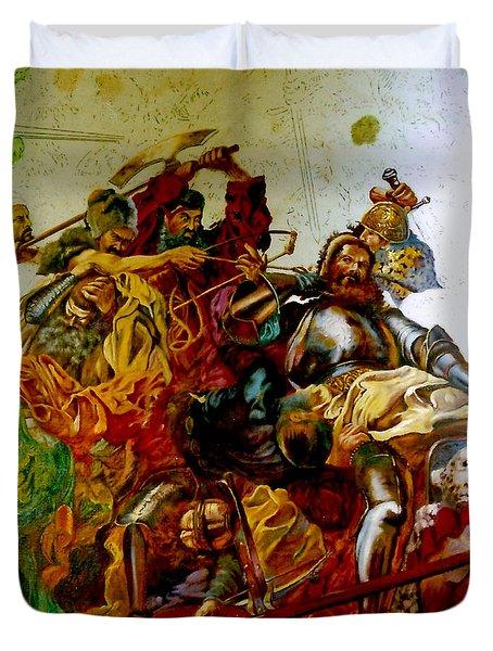 Battle Of Grunwald Duvet Cover