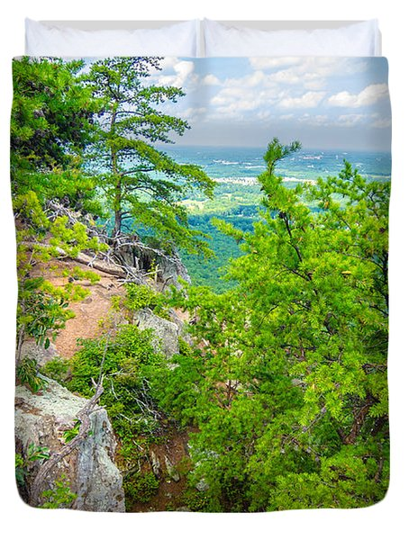 Beautiful Aerial Landscape Views From Crowders Mountain North Ca Duvet Cover