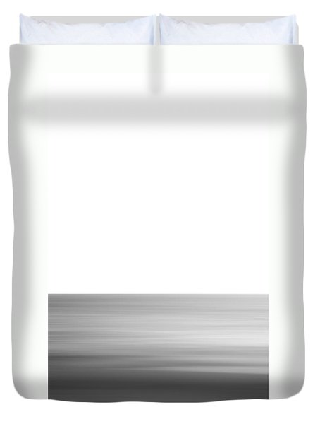 Black And White Abstract Seascape No. 02 Duvet Cover