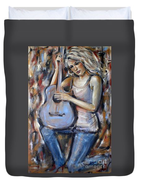 Blue Guitar 010709 Duvet Cover