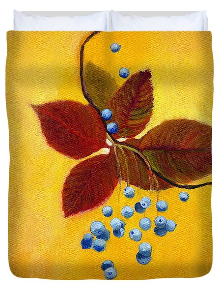 Blue On Yellow Duvet Cover
