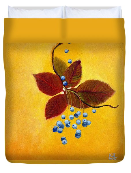 Blue On Yellow Duvet Cover