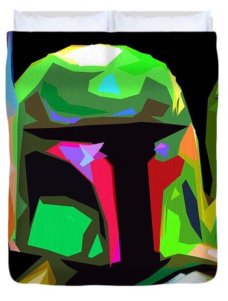 Boba Fett Star Wars Duvet Cover by Daniel Janda