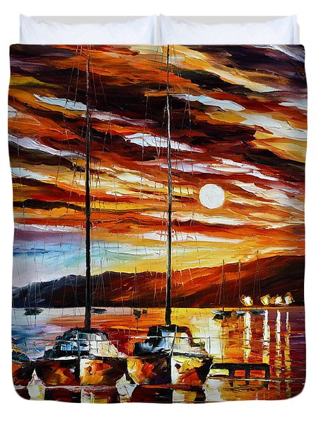 3 Borthers Duvet Cover by Leonid Afremov