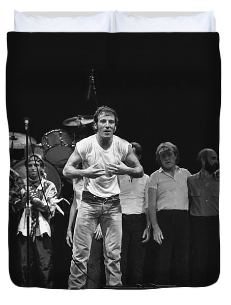 Bruce Springsteen And The E Street Band Duvet Cover
