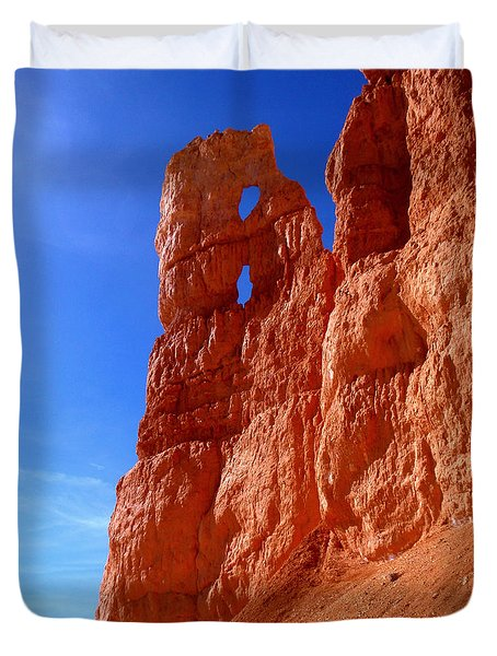 Bryce Canyon National Park Duvet Cover by Rona Black