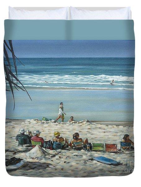 Burleigh Beach 220909 Duvet Cover by Selena Boron