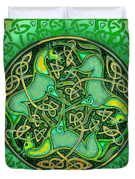 3 Celtic Irish Horses Duvet Cover