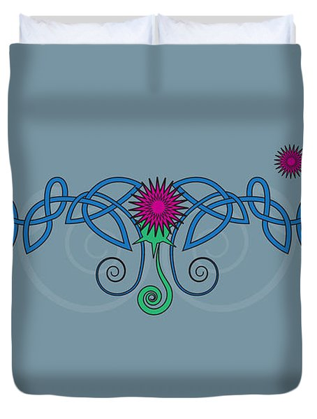 Celtic Thistle Duvet Cover