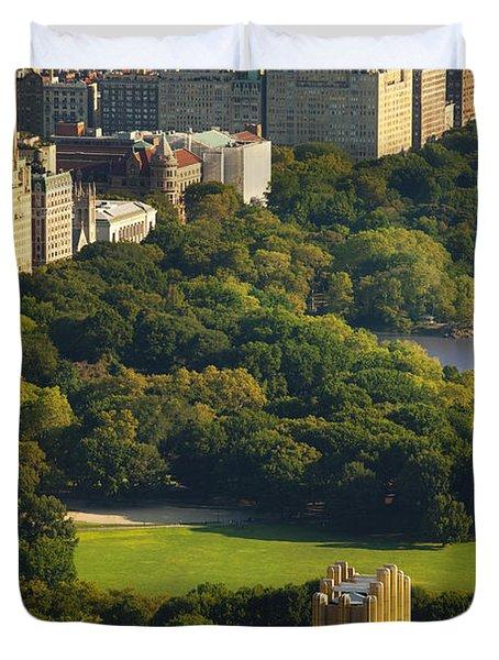 Central Park Duvet Cover by Brian Jannsen