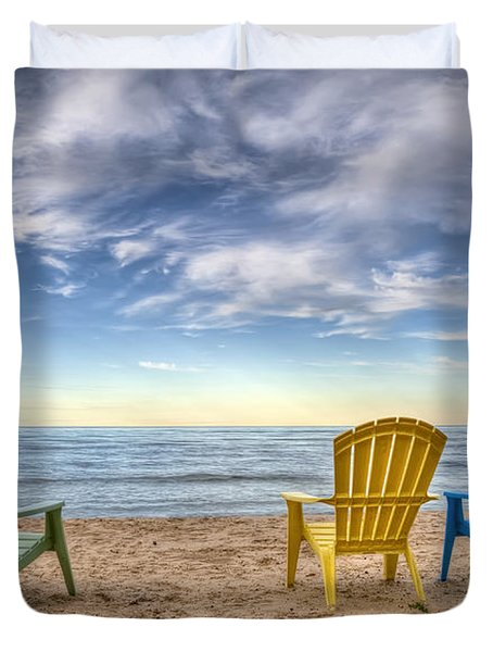 3 Chairs Duvet Cover