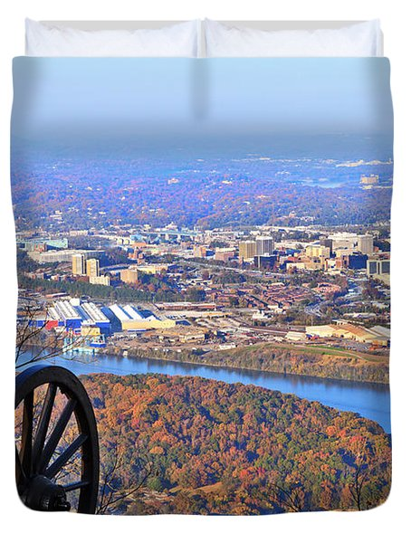 Chattanooga In Autumn Duvet Cover by Melinda Fawver