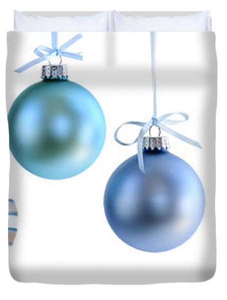 Christmas Ornaments Duvet Cover by Elena Elisseeva