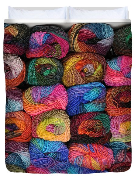 Colorful Knitting Yarn Duvet Cover