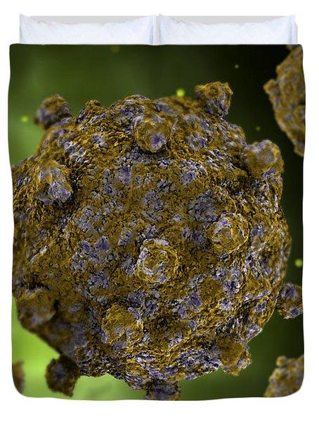 Conceptual Image Of Coxsackievirus Duvet Cover