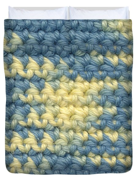 Crochet Made With Variegated Yarn Duvet Cover by Kerstin Ivarsson