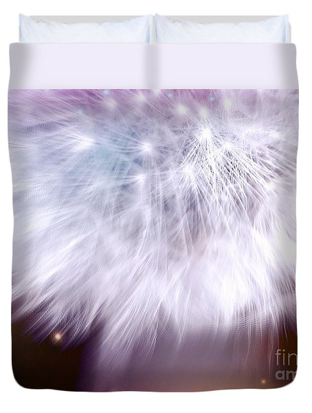 Duvet Cover featuring the photograph Dandelion by France Laliberte