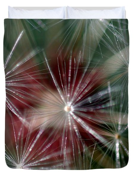 Duvet Cover featuring the photograph Dandelion Seed Head by Henrik Lehnerer