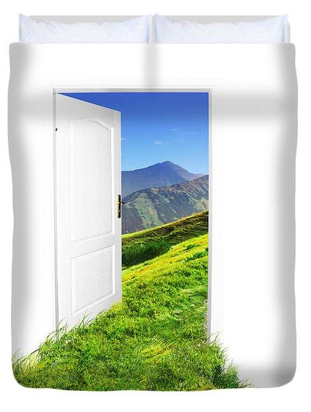 Door To New World Duvet Cover by Michal Bednarek