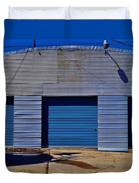 Duvet Cover featuring the photograph 3 Doors by Daniel Thompson