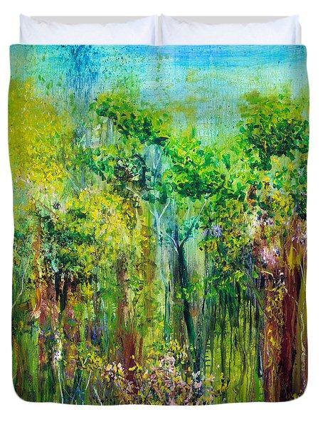 Edge Of Eden Duvet Cover by Regina Valluzzi