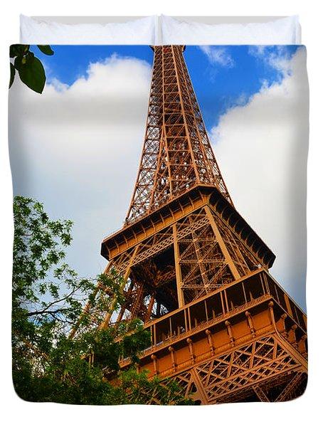 Eiffel Tower Paris France Duvet Cover by Patricia Awapara