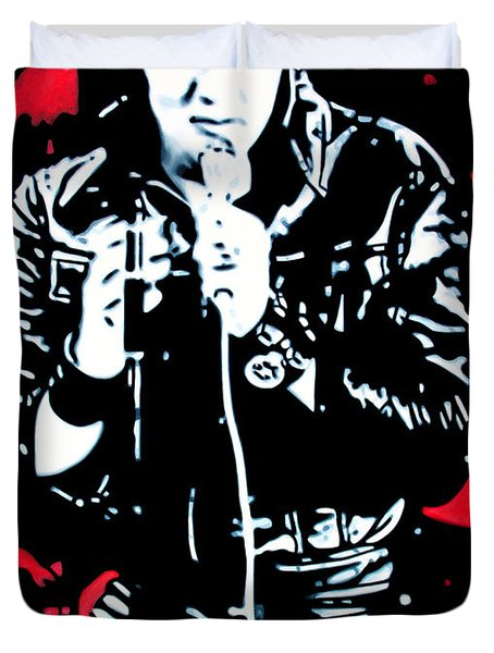 Elvis Duvet Cover by Luis Ludzska