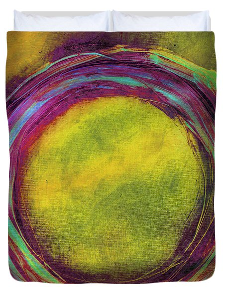 Duvet Cover featuring the painting Enso by Katie Black